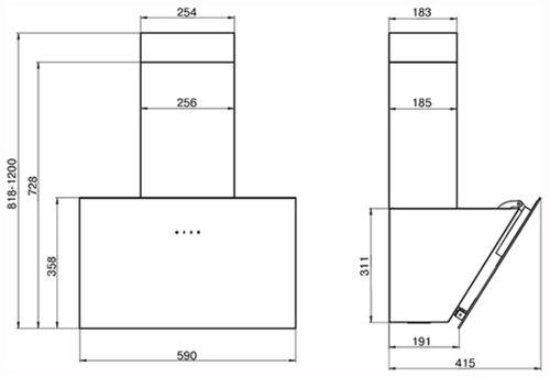 Все для дома Вытяжка Elikor Антрацит 60П-650-Е3Д Антрацит