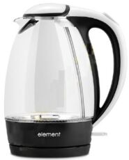 Фото Чайник Element El'Kettle glass white-black WF02GW в магазине www.MagazinBT.ru