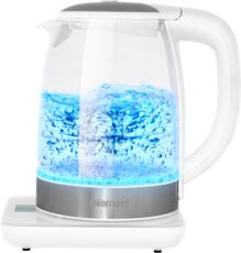 Фото Чайник Element El'Kettle glass white WF06GW в магазине www.MagazinBT.ru