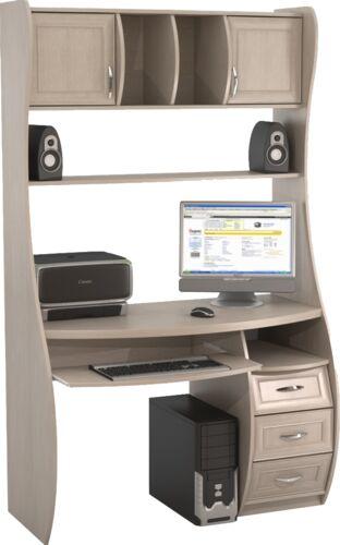 Компьютерный стол ная (naya) кс-1 к беркут дуб беленый с дос.
